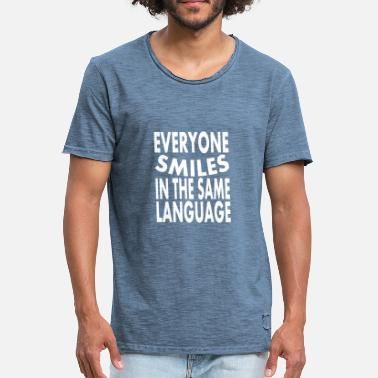 Lachen Smiles in the same language - Männer Vintage T-Shirt