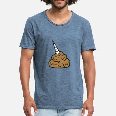 Horse Shit unicorn horse mythical creature horn shit feces disgusting - Men's Vintage T-Shirt