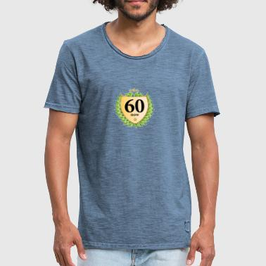 sixty now sixty laurel wreath 60th birthday star - Men's Vintage T-Shirt