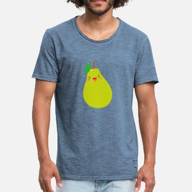 Lemon On A Pear sweet pear - Sweet pear with a smile - Men's Vintage T-Shirt