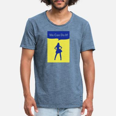 we can do it model - Männer Vintage T-Shirt