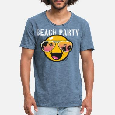 Beachparty SmileyWorld 'Beachparty' teenager t-shirt - Vintage T-shirt herr
