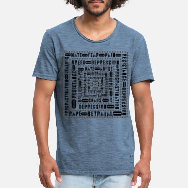 Peep circle of Depression - Männer Vintage T-Shirt