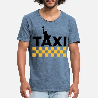 Transportmidler New York Taxi - Vintage T-skjorte for menn