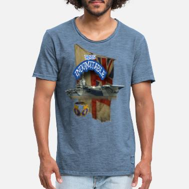 HMS Indomitable - Men's Vintage T-Shirt