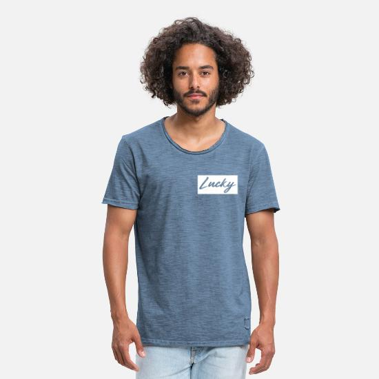 Lucky T-Shirts - lucky - Men's Vintage T-Shirt vintage denim