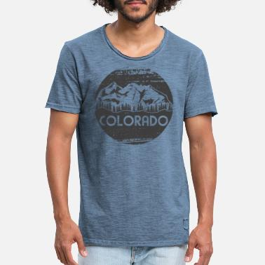 Denver Colorado Beauty of Landscape - T-shirt vintage Homme