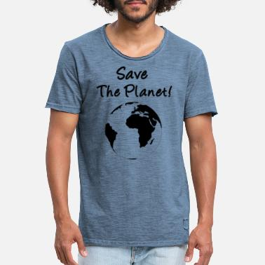 Save The Planet Save The Planet! - Vintage T-shirt mænd