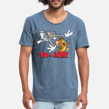 Tom Tom and Jerry Chase - Vintage T-skjorte for menn