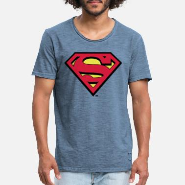 Licentie Superman S-Shield Teenager's T-Shirt - Mannen vintage T-shirt