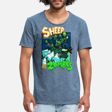 B Movie sheep vs zombies - T-shirt vintage Homme