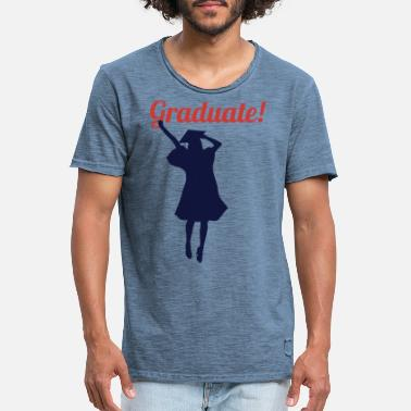 Studying ends graduation promotion gift idea - Men's Vintage T-Shirt