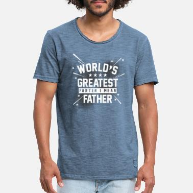 Greatest Worlds greatest farter I mean father Vater Furz - Mannen vintage T-shirt