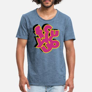 Typo Collection V2 fcukyuo_3C_3D - Men's Vintage T-Shirt