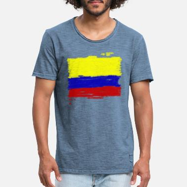 Colombia Flag Colombia flag - Men's Vintage T-Shirt