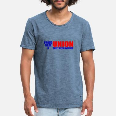 Sheet Metal Union Sheet Metal Worker - Men's Vintage T-Shirt
