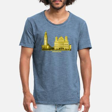 Town Hall Augsburg Swabia Bavaria Town Hall Perlach Tower - Men's Vintage T-Shirt
