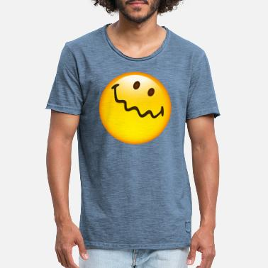 Uncertain Smiley Glossy Uncertain - Men's Vintage T-Shirt