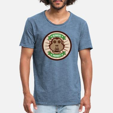 Junkie Monkey - Men's Vintage T-Shirt
