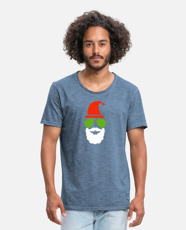 Beard T-Shirts - Santa Claus - Men's Vintage T-Shirt vintage denim