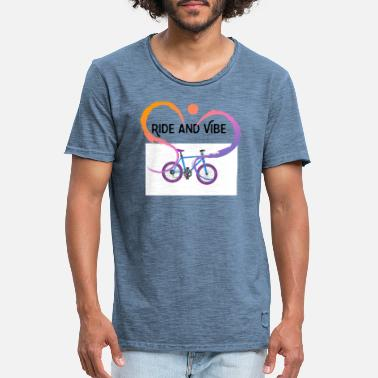 Vibe Ride and Vibe - Männer Vintage T-Shirt