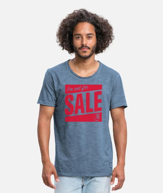 Sale T-Shirts - Not for Sale - Männer Vintage T-Shirt Vintage Denim