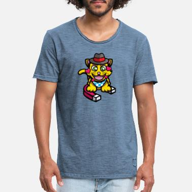Cat Magnet - Men's Vintage T-Shirt