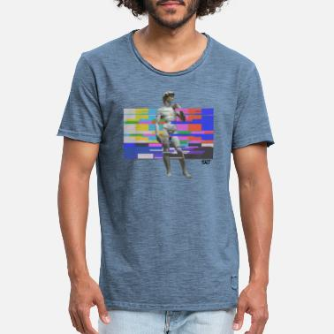 David The David Michelangelo tv glitch - Mannen vintage T-shirt