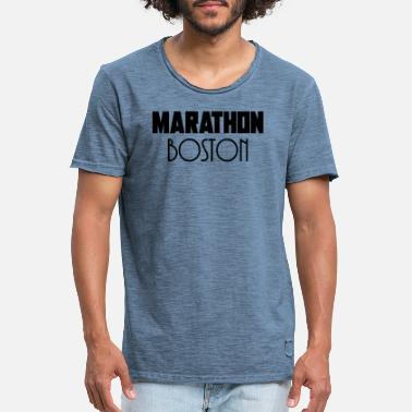 Boston Marathon Marathon Boston - Mannen vintage T-shirt