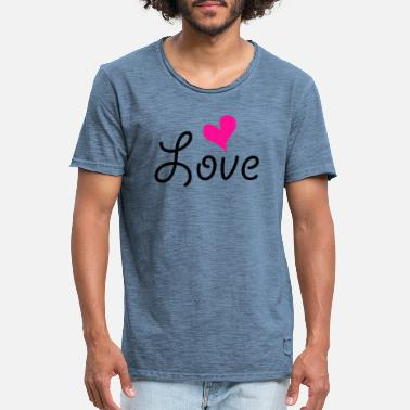 Love With Heart Love with heart - Mannen vintage T-shirt