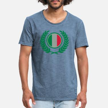 Laurel Wreath Italy (flag & laurel wreath) - Men's Vintage T-Shirt