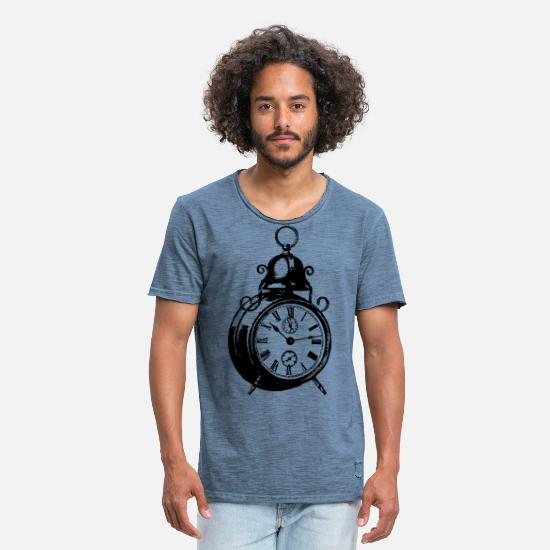 Alarm Clock T-Shirts - alarm clock - Men's Vintage T-Shirt vintage denim