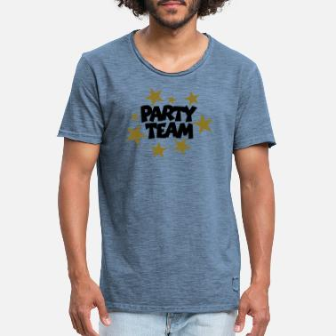 Beachparty Party Team Stars (FI) - Miesten vintage t-paita