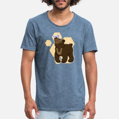 Bear Butterfly - Men's Vintage T-Shirt