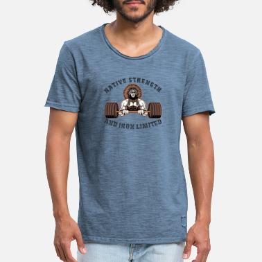Strength native strength and iron limited - Men's Vintage T-Shirt