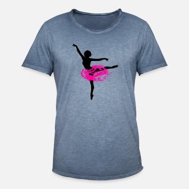 Femme Manger Dormir Danser R/ép/éter Danse Ballerine Danseur T-Shirt avec Col en V