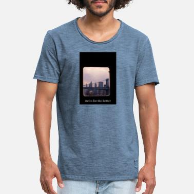New York Train - T-shirt vintage Homme