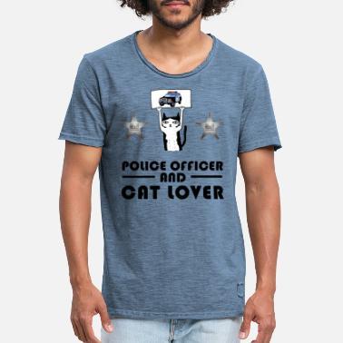 officier fun Policier par jour super-héros Nouveauté T-shirt homme à thème COP