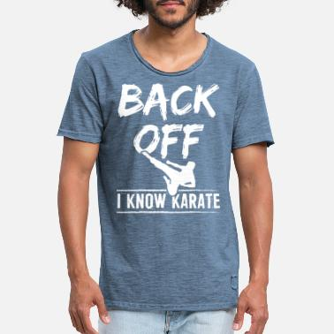 Back In Black Karate Back Off - Koszulka męska vintage