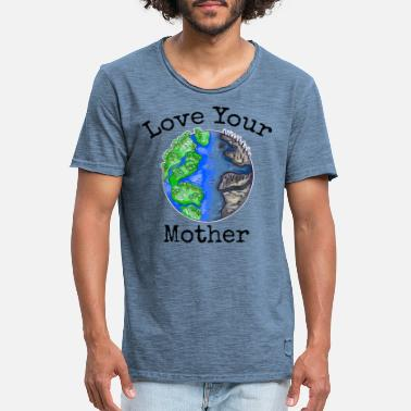 Erdteil Make Every Day Earth Day Save The Planet Umwelt - Männer Vintage T-Shirt