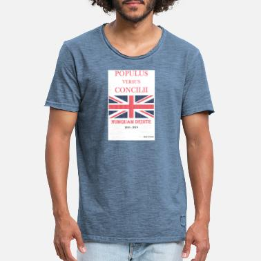 Brexit People V Parliament Latin - Men's Vintage T-Shirt