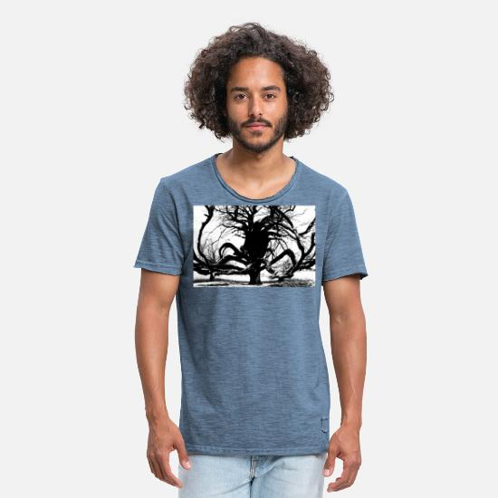 Weird T-Shirts - A Weird Tree - Men's Vintage T-Shirt vintage denim