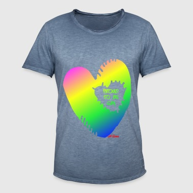 Gay Heart - Herre vintage T-shirt