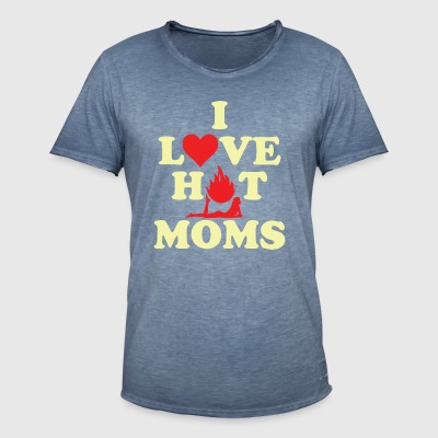 HOT MOMS - Mannen Vintage T-shirt