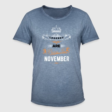 november - Vintage-T-skjorte for menn