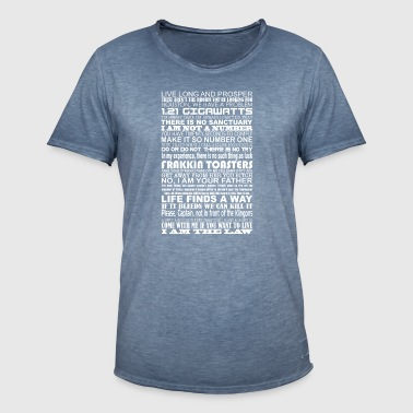 Sci Fi Quotes - Men's Vintage T-Shirt