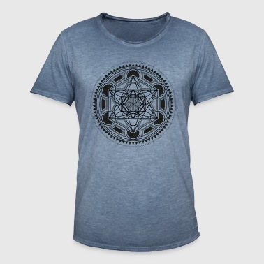 METATRONS CUBE, SACRED GEOMETRY, SPIRITUALITY - T-shirt vintage Homme