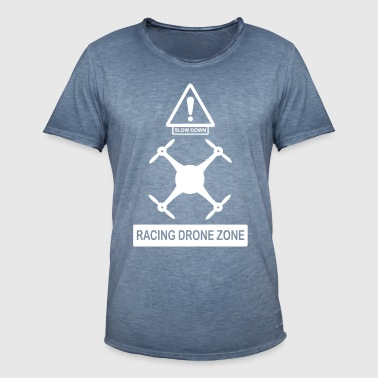 racingdrone wite - T-shirt vintage Homme