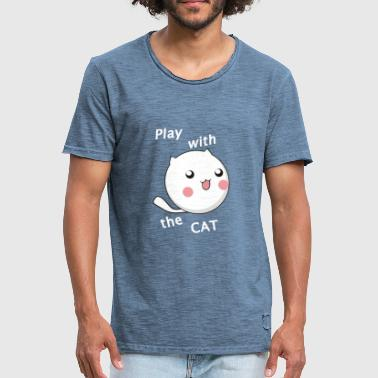 Play with the cat - Men's Vintage T-Shirt