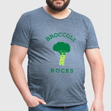 brokkoli ROCKS - Vintage-T-skjorte for menn